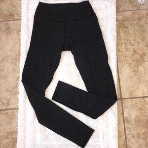 Herringbone patterned workout pants